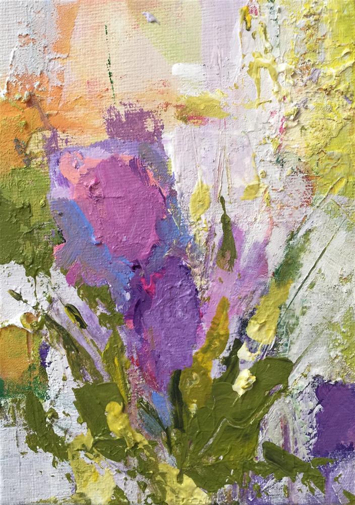"""Flower Power"" original fine art by Debbie Callahan"