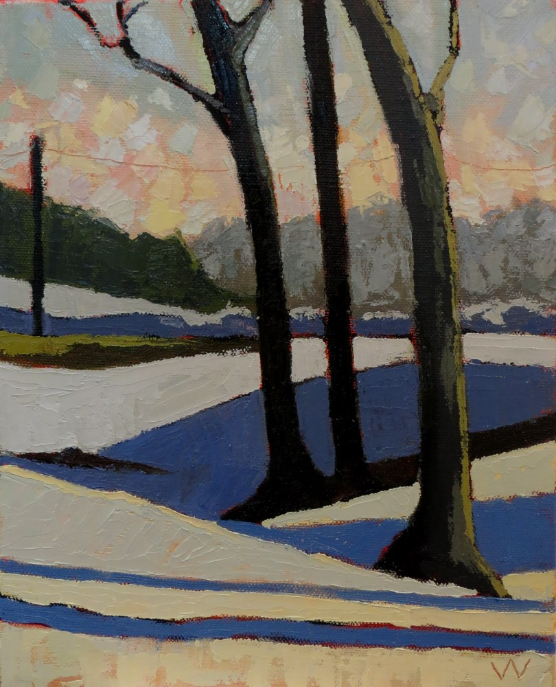 """January Afternoon"" original fine art by Joan Wiberg"