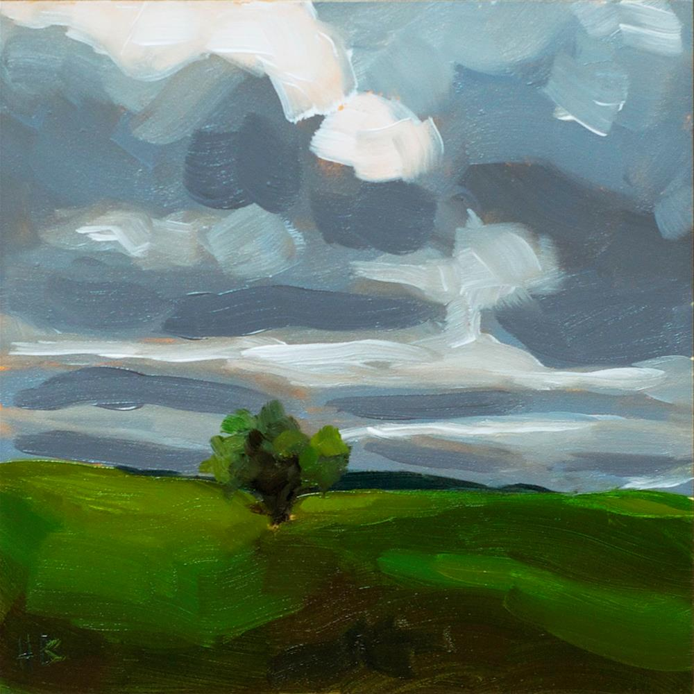 """Moody Clouds"" original fine art by Heather Bullach"
