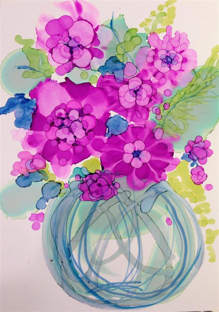 """Radiant Orchid: They're Not Orchids at All, but  Rather Petunias"" original fine art by Kelly Alge"