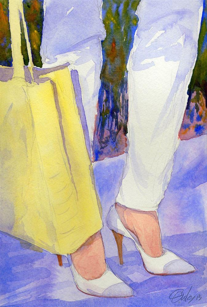 """White Pumps"" original fine art by Chris Ousley"