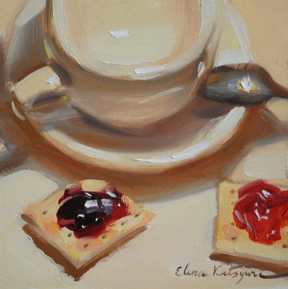 """Cherry & Blackberry"" original fine art by Elena Katsyura"