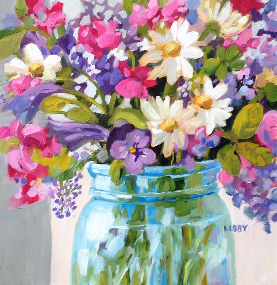 """Bright Blooms"" original fine art by Libby Anderson"