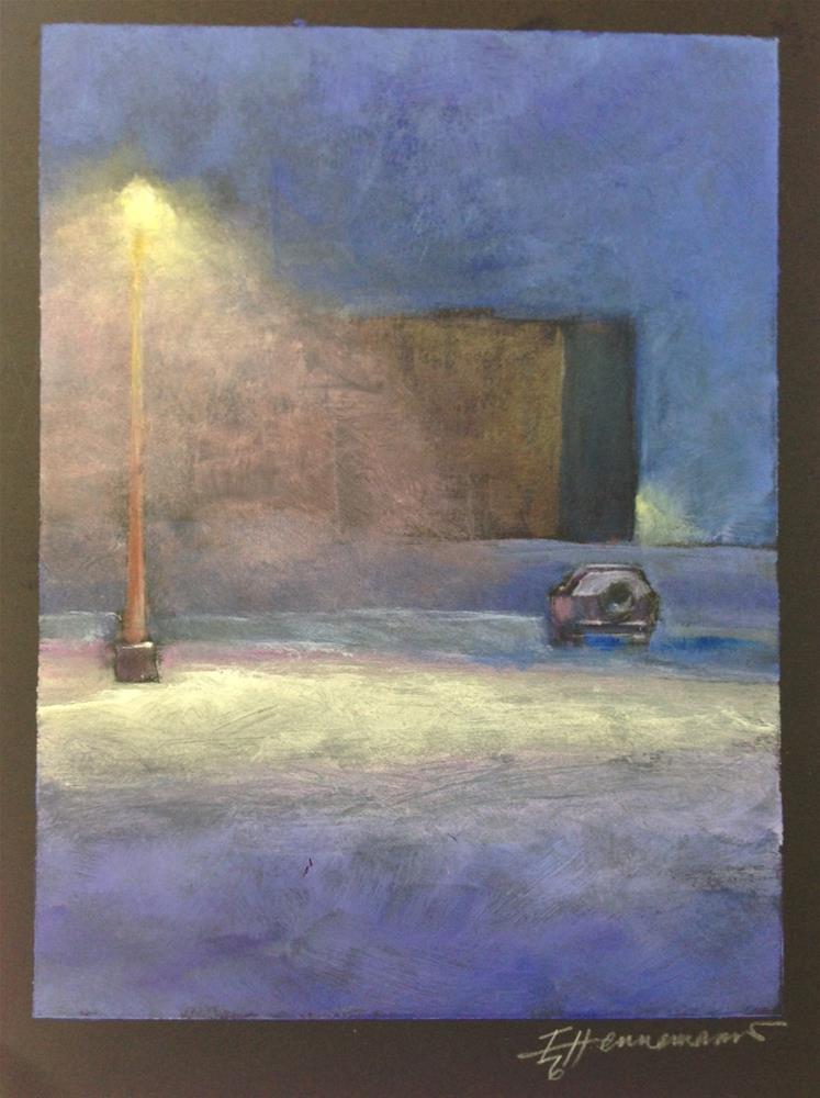 """""""Walking Home"""" original fine art by Eileen Hennemann"""