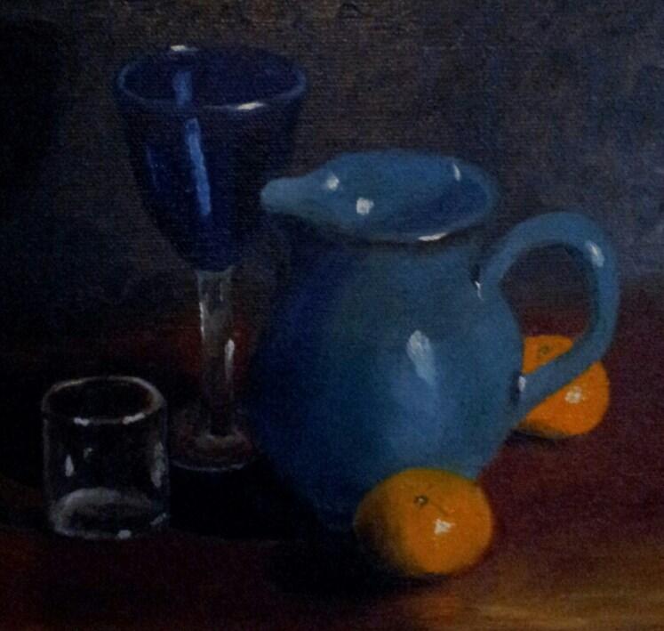 """Choice of Beverage"" original fine art by Bob Blackmon"