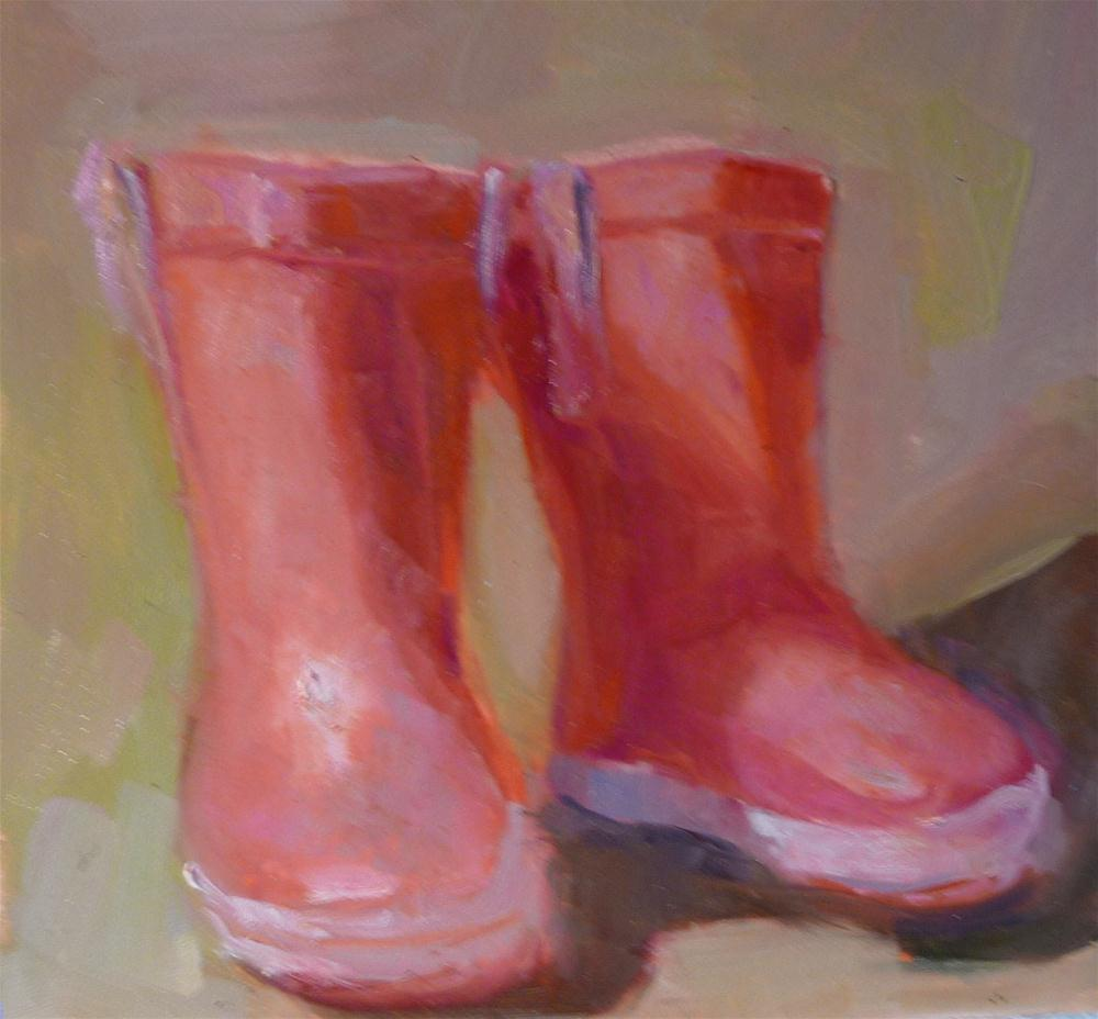 """red boots"" original fine art by Carol Josefiak"