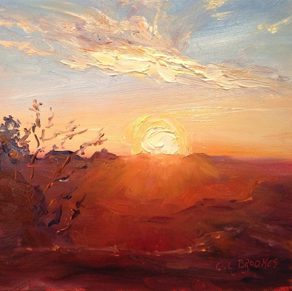 """Grand Canyon Sunrise"" original fine art by Claudia L Brookes"