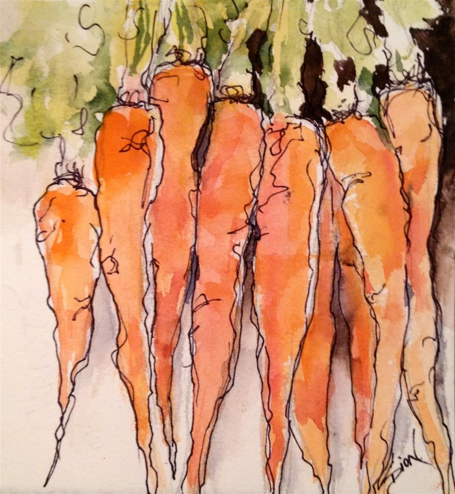 """Carrot Contentment"" original fine art by Sue Dion"