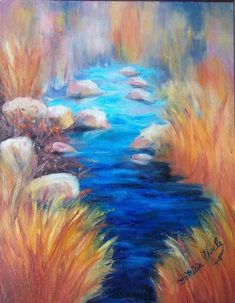 """Still Waters Run Deep"" original fine art by Patricia Voelz"