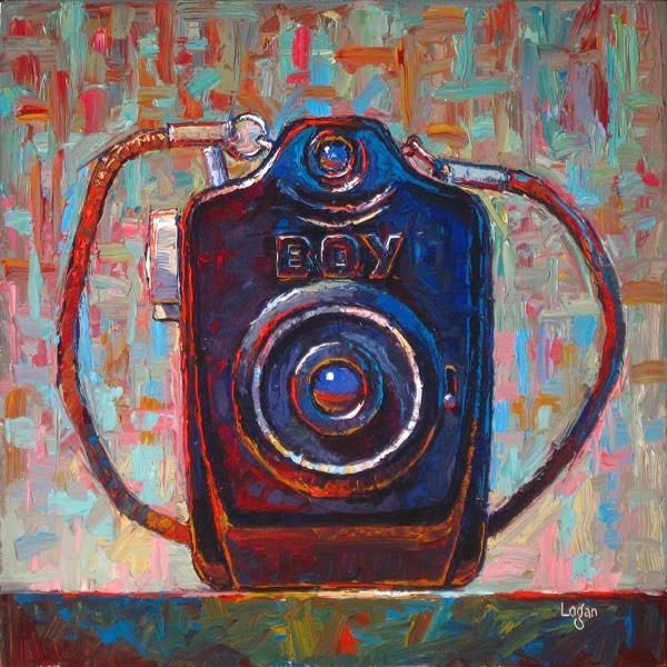 """Boy Camera, The Bigger"" original fine art by Raymond Logan"