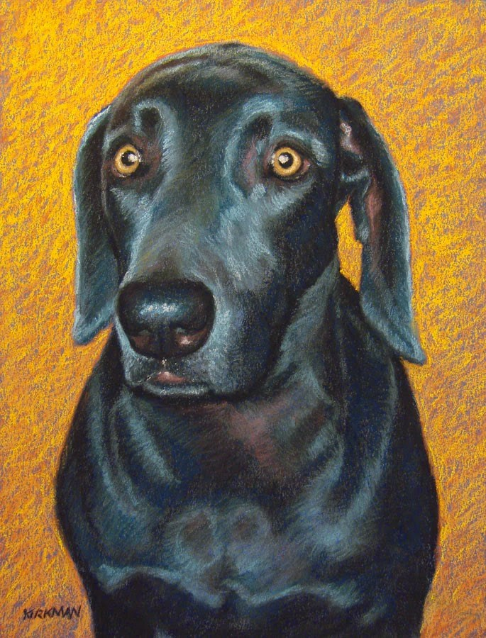 """Rowdy - A Pet Portrait Commission - day 17"" original fine art by Rita Kirkman"