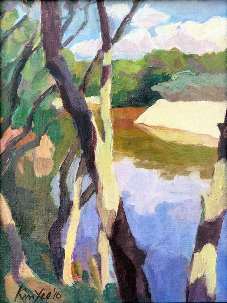 """Green Patch, study"" original fine art by Myriam Kin-Yee"