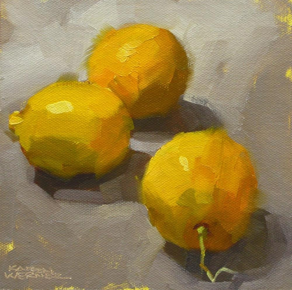 """Lemons"" original fine art by Karen Werner"