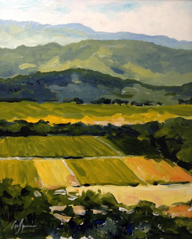 """Napa Valley, CA"" original fine art by Cornelis vanSpronsen"