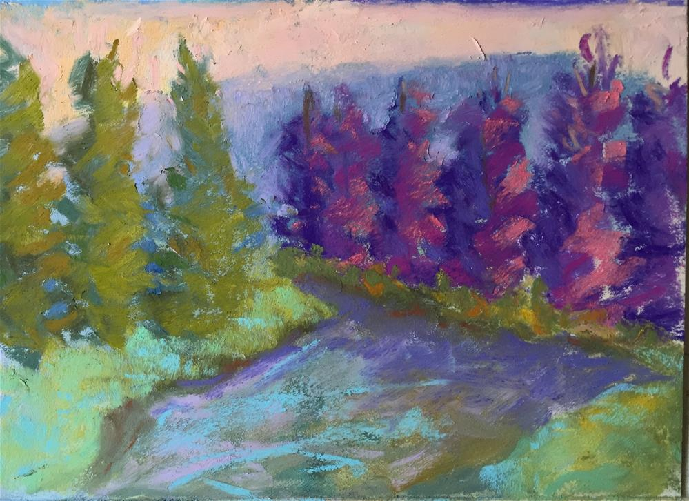"""Gore Creek 3"" original fine art by Sandi Miller"