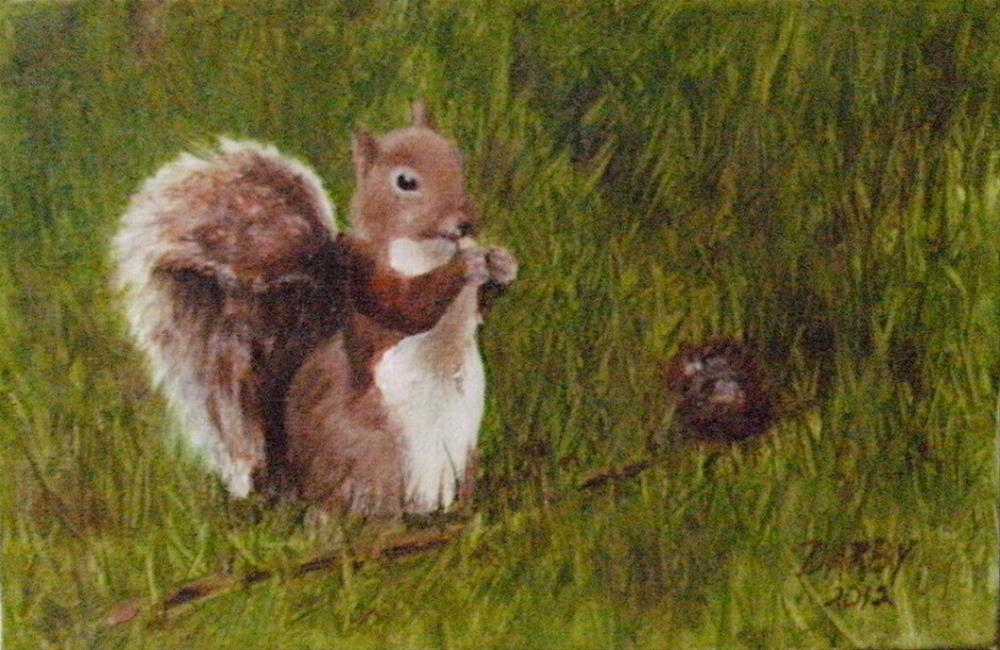 """Snack time"" original fine art by Lynn Darby"