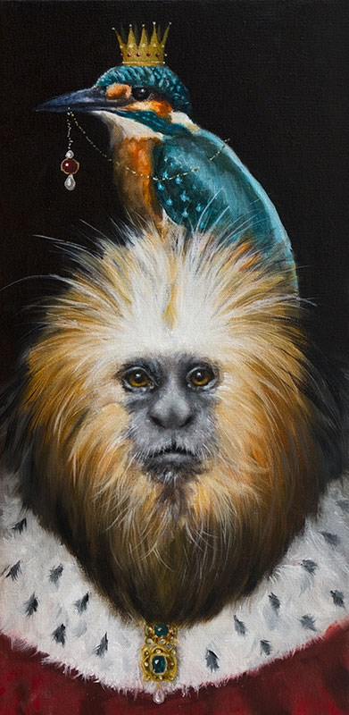 """The Tamarin King"" original fine art by Clair Hartmann"