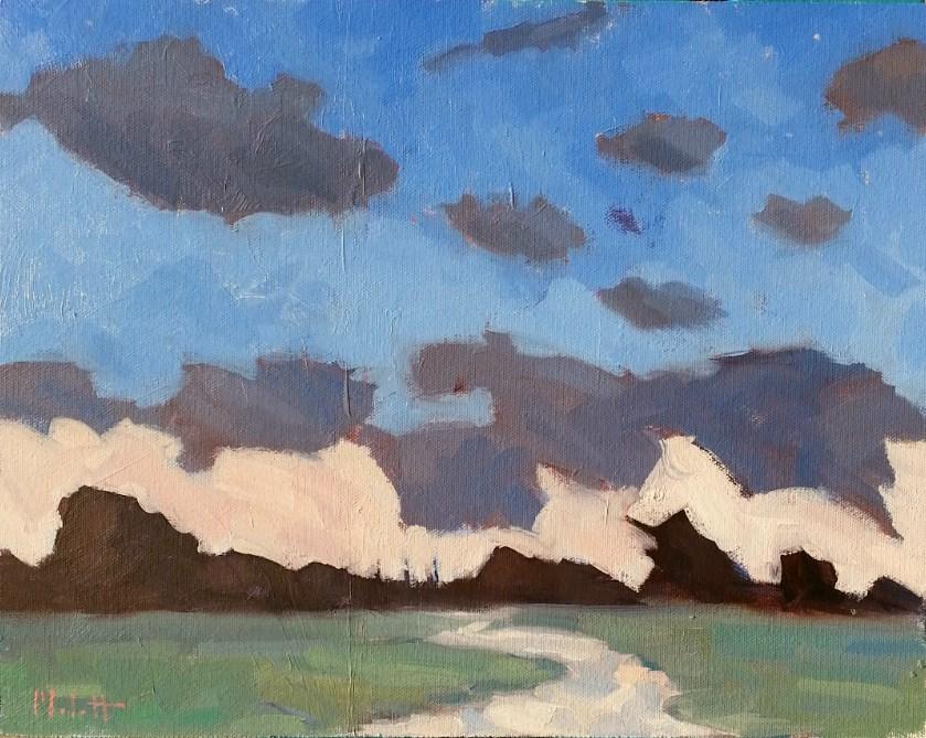 """Abstract Landscape 11x14  make an offer Original Contemporary Oil Painting Heidi Malott"" original fine art by Heidi Malott"