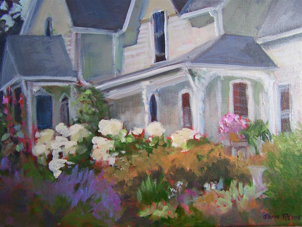 """Country Garden"" original fine art by Joan Reive"