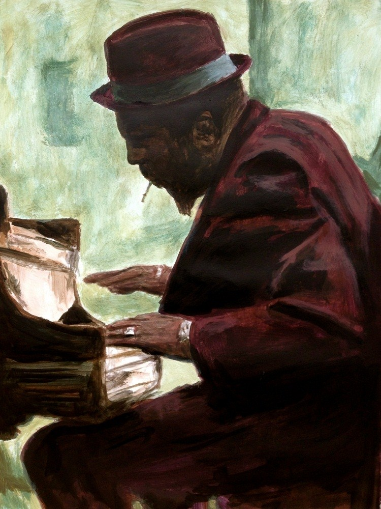 """Thelonious Monk"" original fine art by Erin Dertner"