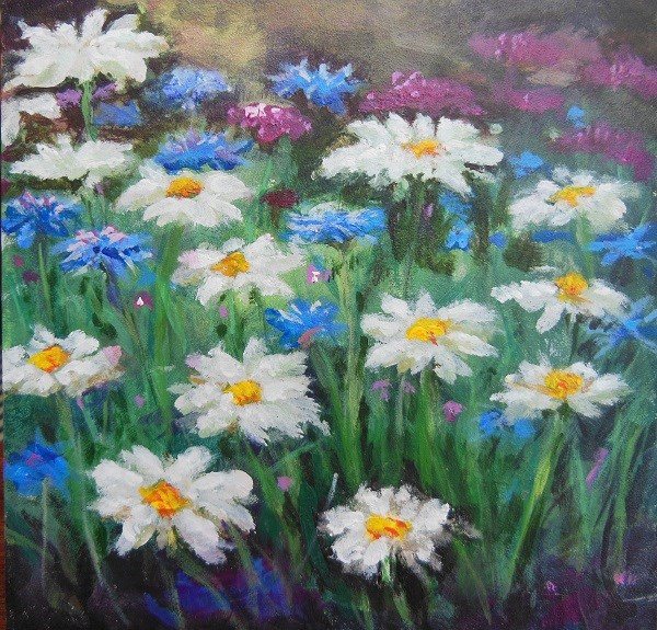 """Daisy Field"" original fine art by wendy black"