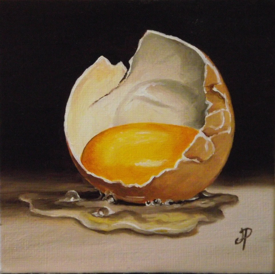 """Little egg"" original fine art by Jane Palmer"