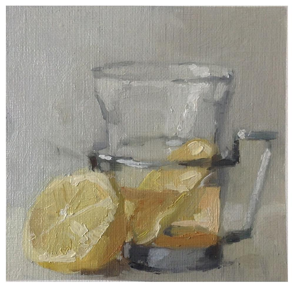 """Lemon tea"" original fine art by Christine Bayle"