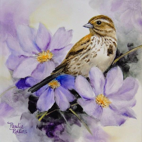 """""""Lavender Romance"""" original fine art by Paulie Rollins"""