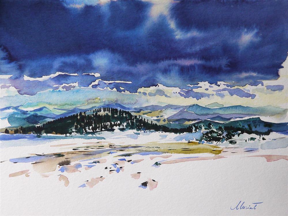 """winter_2"" original fine art by Beata Musial-Tomaszewska"