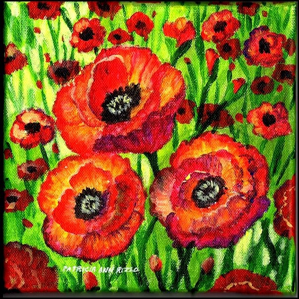"""Poppies!"" original fine art by Patricia Ann Rizzo"