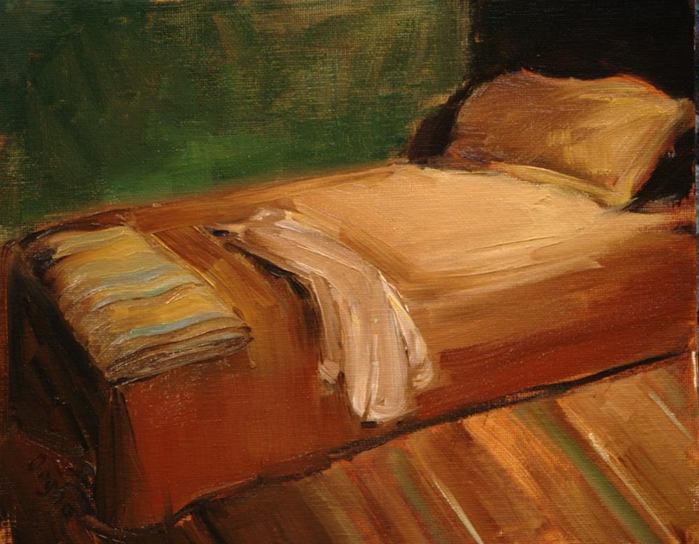 """shirt on Bed"" original fine art by Angela Ooghe"