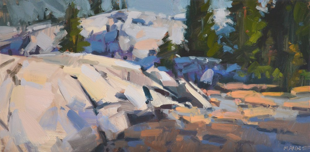 """Sierra Sunrise"" original fine art by Carol Marine"
