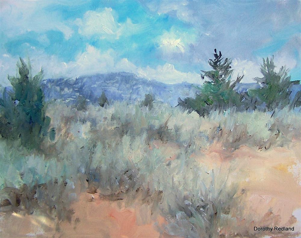 """Sagebrush on Green Mountain"" original fine art by Dorothy Redland"