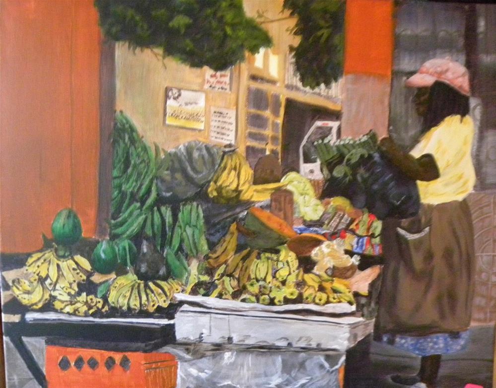 """Jamaican Market"" original fine art by cheryl buhrman"