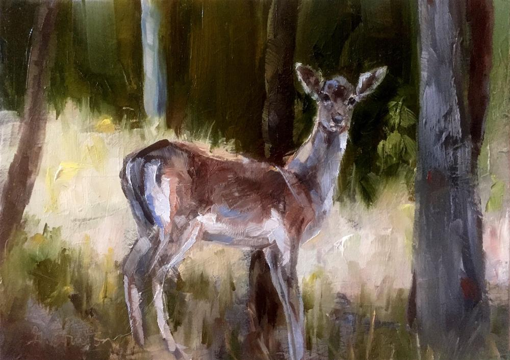 """Oh Deer!"" original fine art by Gary Bruton"
