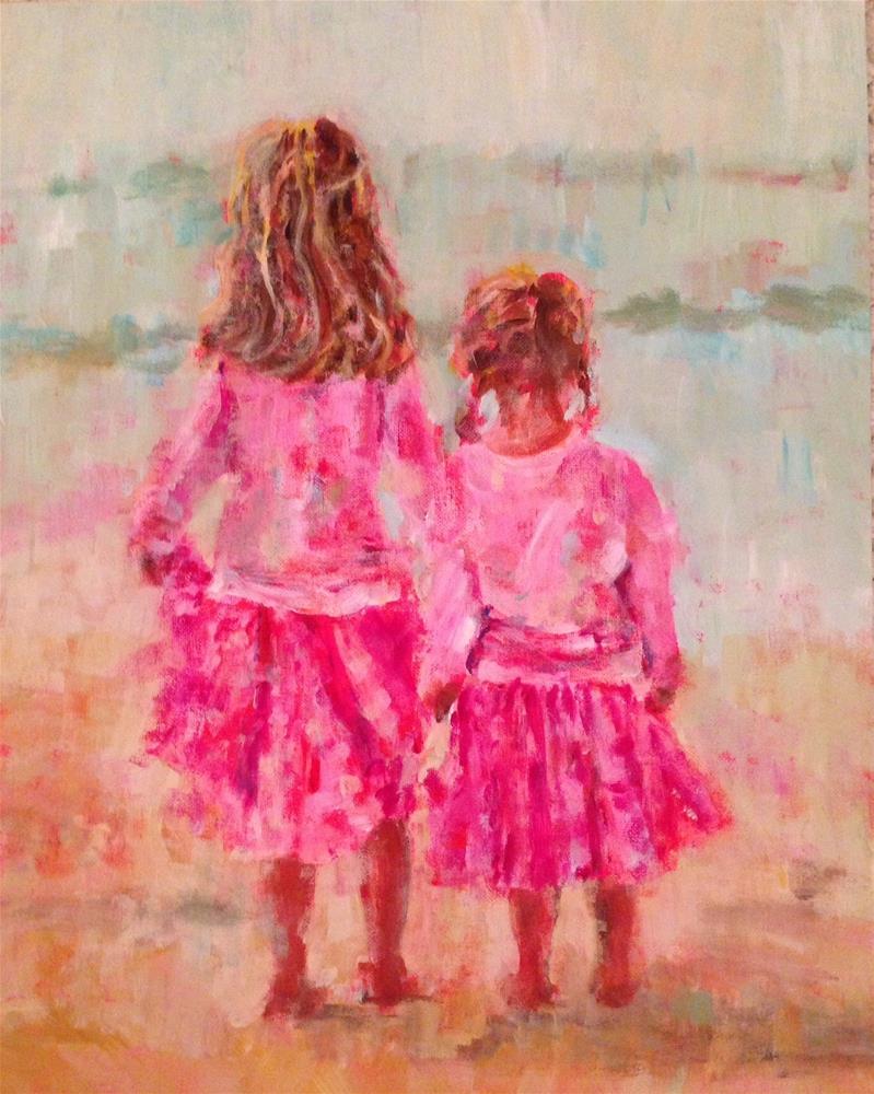 """Pink Beach"" original fine art by Molly Wright"