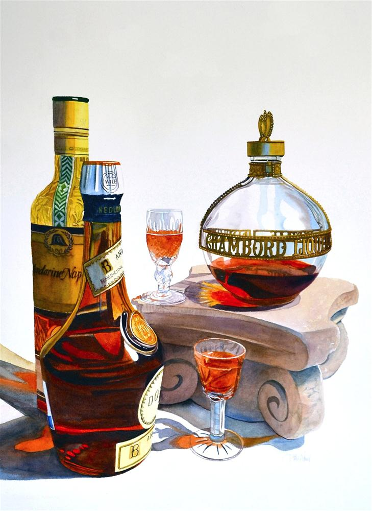"""Chambord Bottle"" original fine art by Patti Adams"