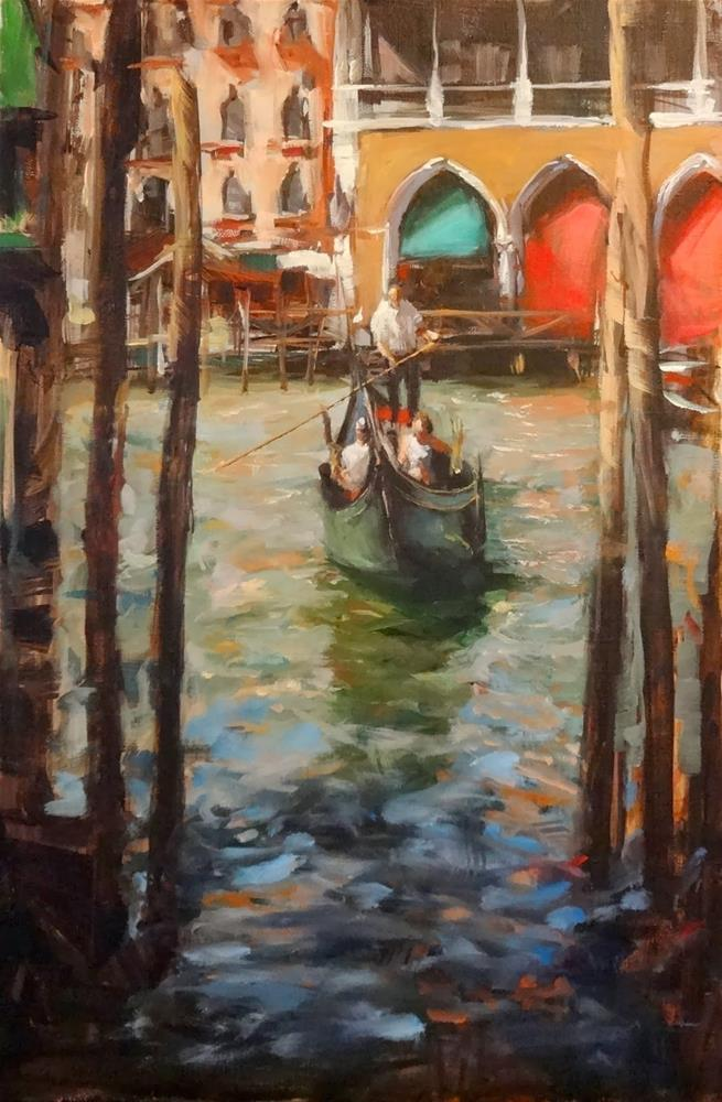 """Venice Canal III"" original fine art by Jonelle Summerfield"