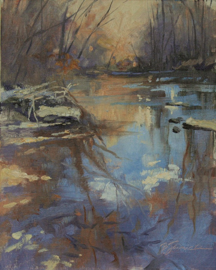 """Disappearing Creek"" original fine art by Barbara Jaenicke"