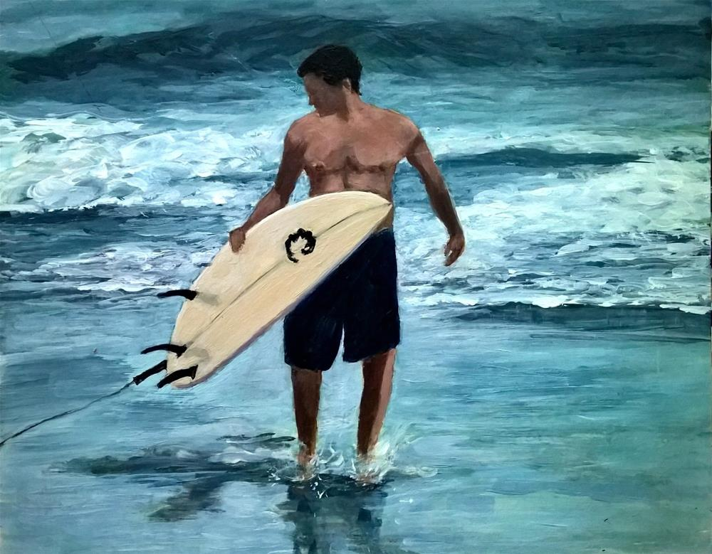 """Good Surfing Day"" original fine art by Joan Matero"