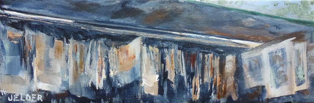 """Detail of a Bouquiniste, Paris No. 99"" original fine art by Judith Elder"
