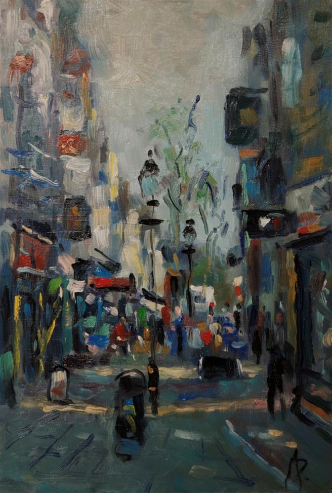 """Pedestrian Precinct"" original fine art by Andre Pallat"