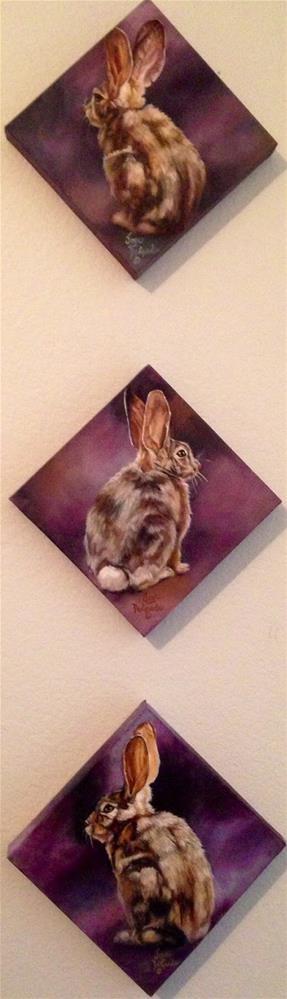 """Bunny Hop 1,2, 3 by Joye DeGoede"" original fine art by Joye DeGoede"