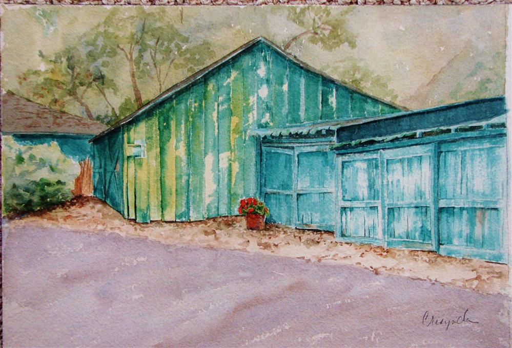 """Barns at Historic Crystal Cove"" original fine art by Crisynda Buss"
