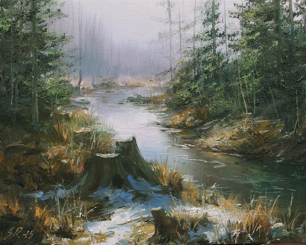 """""""Lowlands"""" original fine art by Stig Rosenlund"""