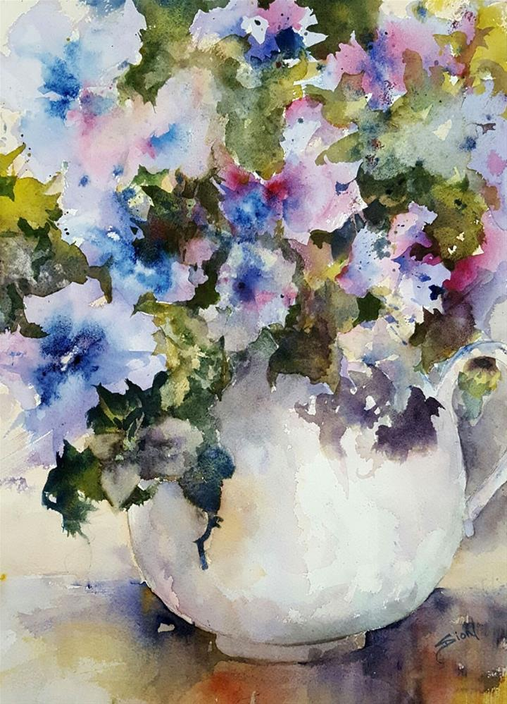 """""""Petunia-esque"""" original fine art by Sue Dion"""