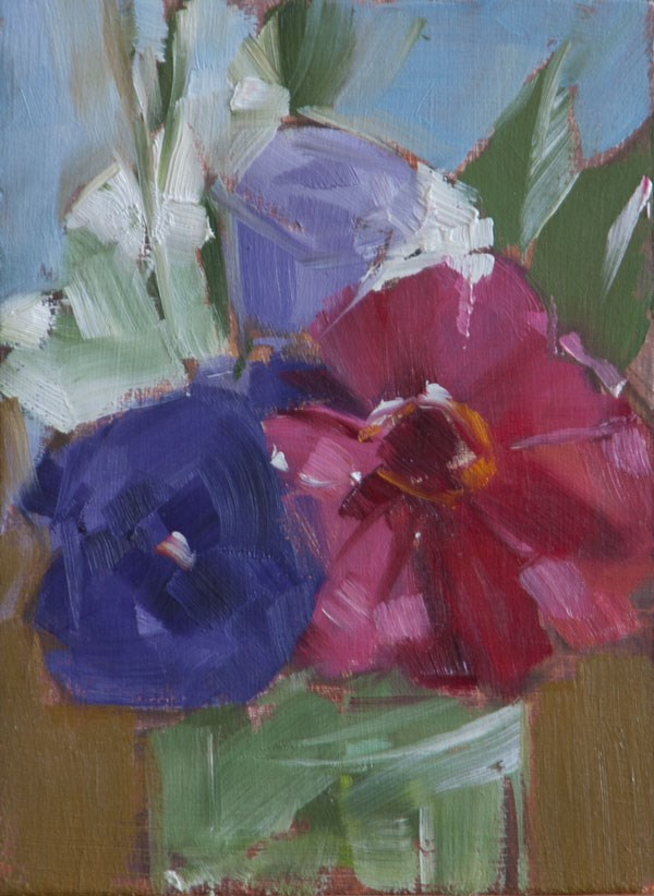 """Market flowers 1"" original fine art by Patricia Canney"
