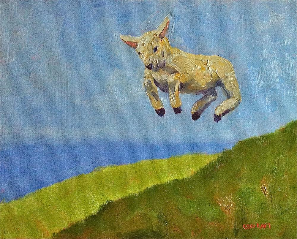 """Day 29 - Bounce!, 30 in 30 Challenge, 10 x 8, oil"" original fine art by Ceci Lam"
