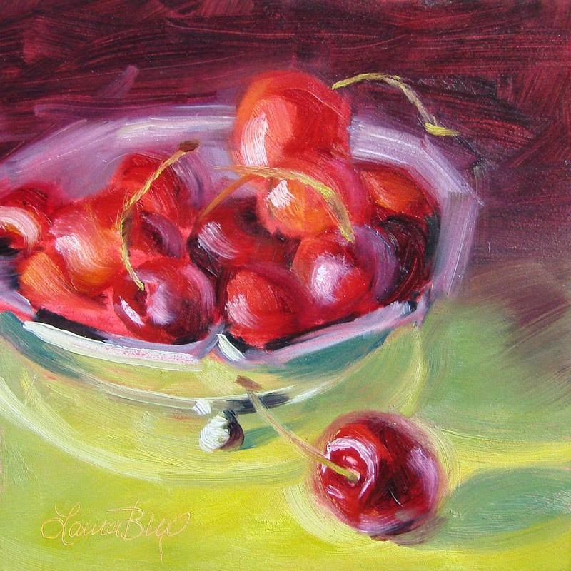 """Royal Cherries 261"" original fine art by Laura  Buxo"