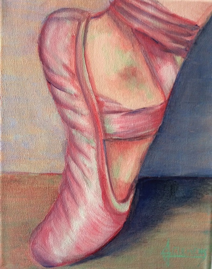 """Pointe"" original fine art by Jolynn Clemens"